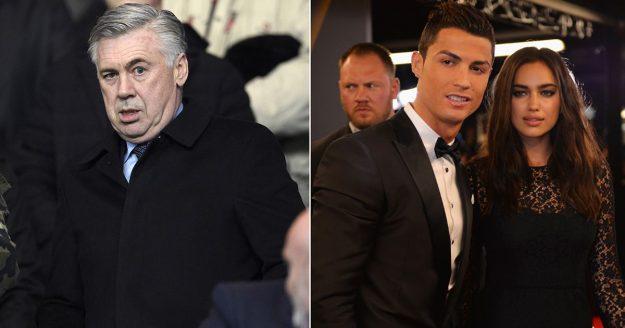 Анчелотти: Гэрт нь Ирина Шейк хүлээж байхад ч Роналдо бэлтгэлийн баазад үлддэг байсан
